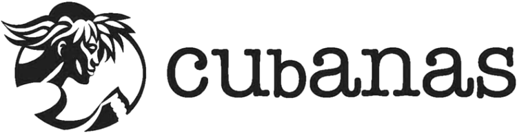 The word CUBANAS with a running native.